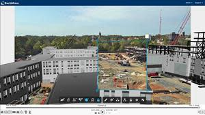 EarthCam image overlays aligned with BIM environment (Courtesy: Hunter Roberts Construction Group, Princeton University)