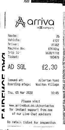 Bus ticket evidence used against Child. (CPS)