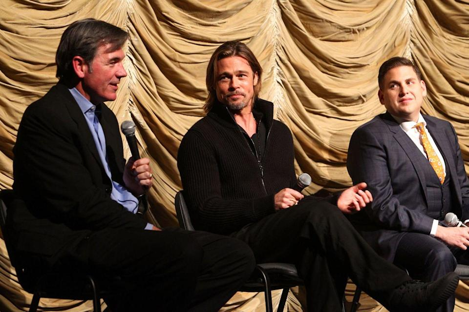 <p>Brad Pitt played professional baseball player Billy Beane in the 2011 movie <em>Moneyball</em>. </p>