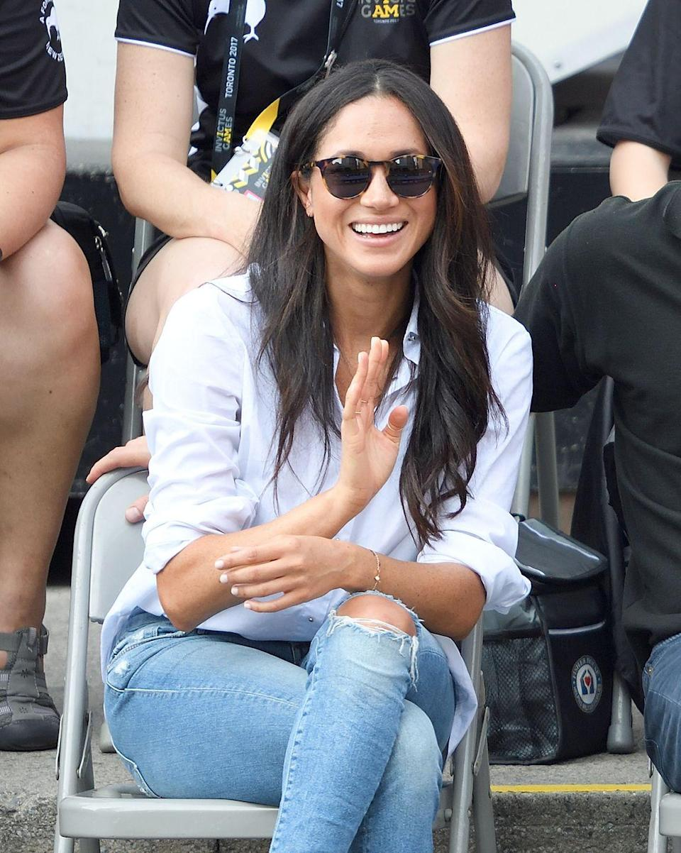<p>Royals are only allowed to wear jeans on super casual occasions (like walking the dog, lol) and for any event, ripped jeans are pushing it. But that didn't stop Meghan from wearing a pair while in Toronto with Prince Harry. Royals! are just! like us!</p>