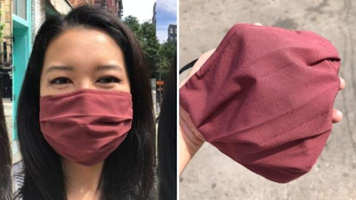 The Athleta mask strikes a nice balance between providing protection and breathability.