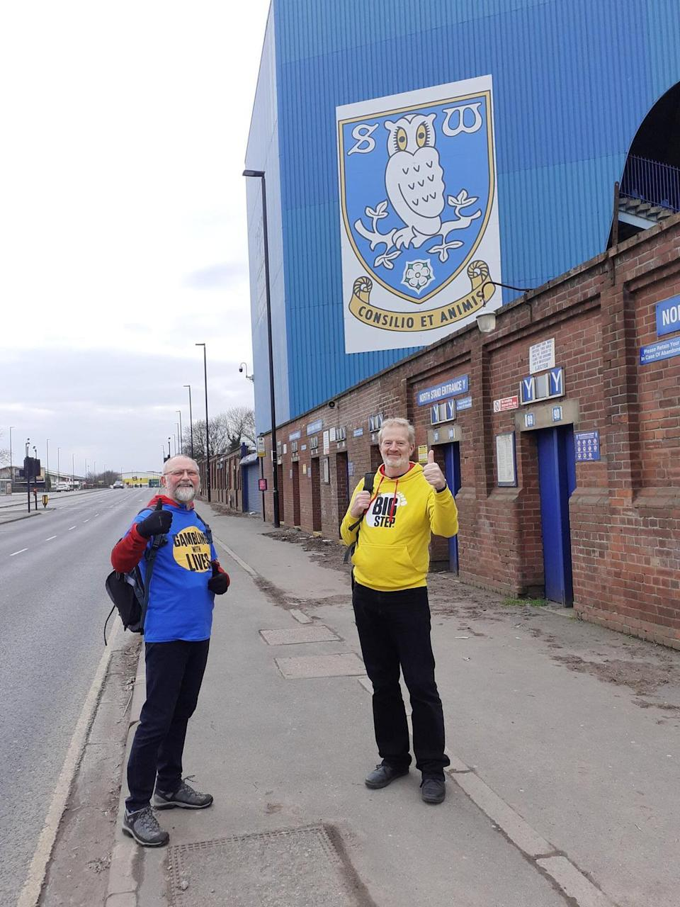 Charles Ritchie, right, and Alistair Dempster, outside Sheffield Wednesday's ground on Saturday (The Big Step)