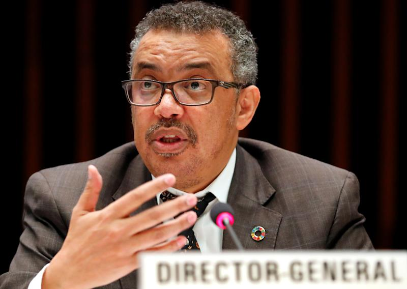 Director-General of the World Health Organization Dr Tedros Adhanom Ghebreyesus attends an Executive Board meeting at the WHO headquarters in Geneva, Switzerland, November 22, 2017. REUTERS/Denis Balibouse