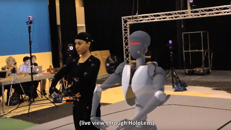 Dancing in digital rain: HoloLens used to see real-time motion capture