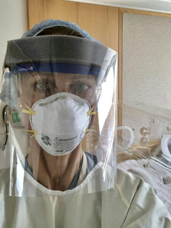 Midwife Julie Mann's interactions with patients changed after Covid-19 forced her to wear protective gear
