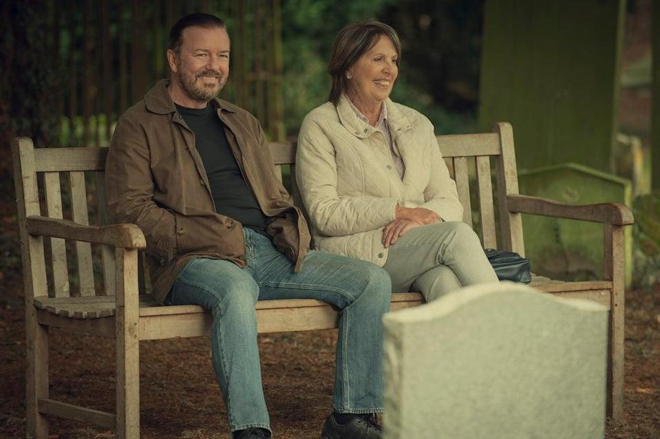 Gervais with Penelope Wilton in After Life (Netflix)