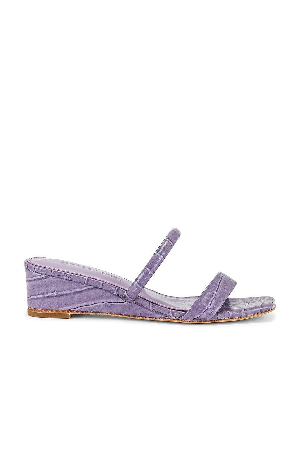 <p>How cute is this <span>Song of Style Fia Sandal</span> ($97, originally $148)? We love the purple color and the little heel.</p>