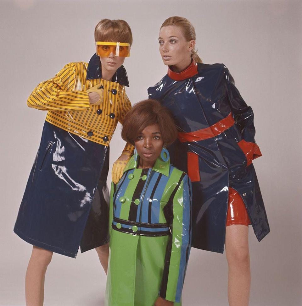 <p>With fashion's return to practicality, (semi) functional fabrics are on the rise. Enter: slick, water-wicking outwear that made waves in the 1960s. Popular during the fashion's mod era, vinyl trench coats in standout colors were absolute must-haves. Now decades later, these catalogue styles are making a comeback but in a way that feels relevant to the times. Brands like Apparis and Courrèges are finding inspiration in the past.</p>