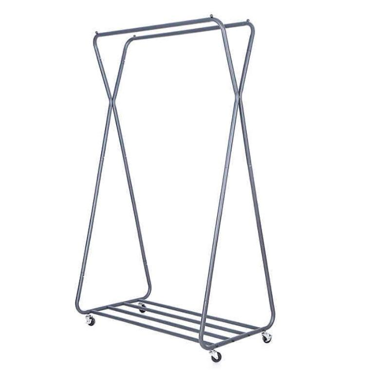 Easy Home Double Hanging Garment Rack. (Photo: Bed Bath and Beyond)