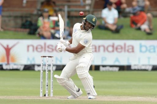 Out of the way: Vernon Philander ducks during Sunday's play
