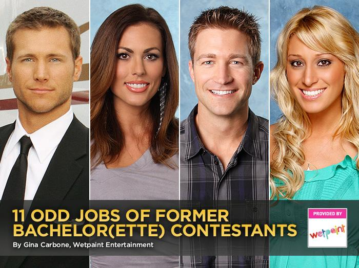 "Sure, ""<a href=""http://tv.yahoo.com/bachelor/show/3018"">The Bachelor</a>"" and ""<a href=""http://tv.yahoo.com/bachelorette/show/34988/"">The Bachelorette</a>"" don't require contestants to have a specific talent or set of skills to get on the show, but that doesn't mean the love-seekers don't have experience. In fact, more than a few have pretty wild and surprising former and current careers. (Everybody has to bring home the bacon somehow!) Here's a look at some of the ways the contestants have worked, or are working, to pay the bills. — Wetpaint Entertainment"
