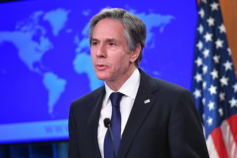 """US Secretary of State Antony Blinken on Sunday criticised the """"increasingly aggressive actions by the government in Beijing directed at Taiwan"""". Photo: AFP via Getty Images/TNS"""