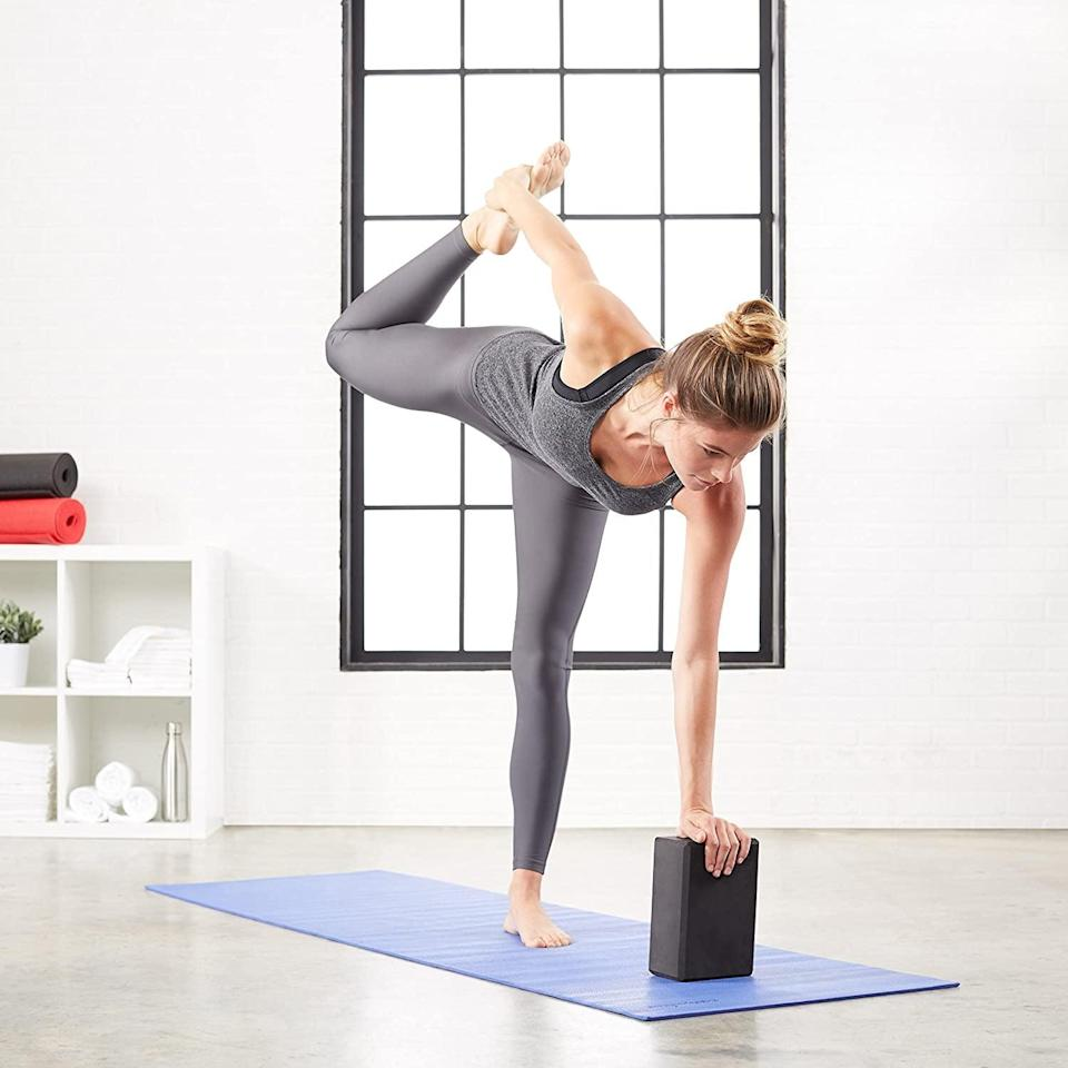 <p>Get yourself these <span>Amazon Basics Foam Yoga Blocks</span> ($16 for two) if you are a beginner in your yoga journey. It'll help you slowly push yourself to achieve certain poses.</p>