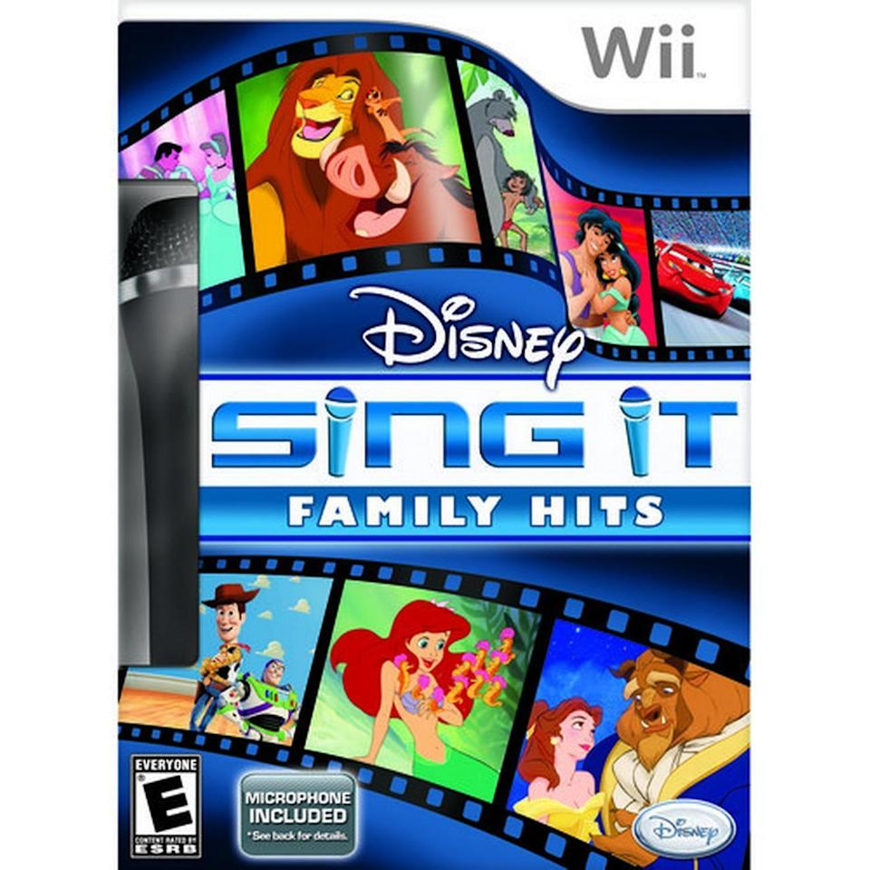 "<p>Karaoke but make it at-home. This game came in a variety of versions, from Disney Channel hits to <em>Glee</em> favorites. It's not <a href=""https://www.ebay.com/itm/Wii-Disney-Sing-It-Family-Hits-Nintendo-Wii-Game-Microphone-Karaoke-Bundle/293644375357?epid=92972607&hash=item445e91953d:g:qtMAAOSwkAhfCcdS"" rel=""nofollow noopener"" target=""_blank"" data-ylk=""slk:worth as much"" class=""link rapid-noclick-resp"">worth as much</a> as others on this list, but $70 is still some serious money! </p>"