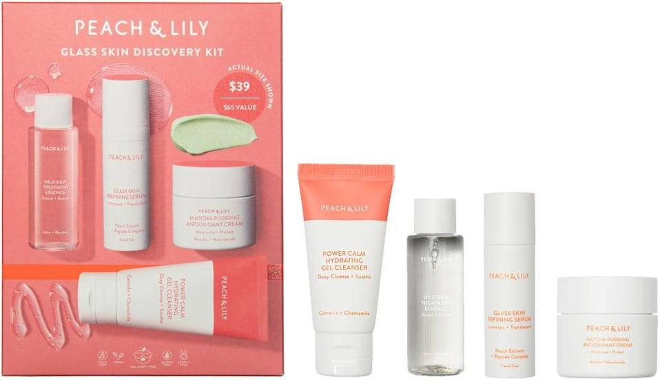<p>If they're obsessed with K-beauty, this <span>Peach & Lily Glass Skin Discovery Kit</span> ($39) is a perfect pick.</p>