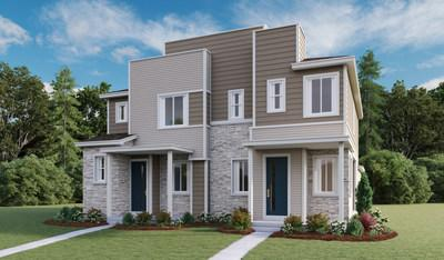 Richmond American's paired Boston and Chicago plans at Urban Collection at Parkway Point offer contemporary curb appeal.