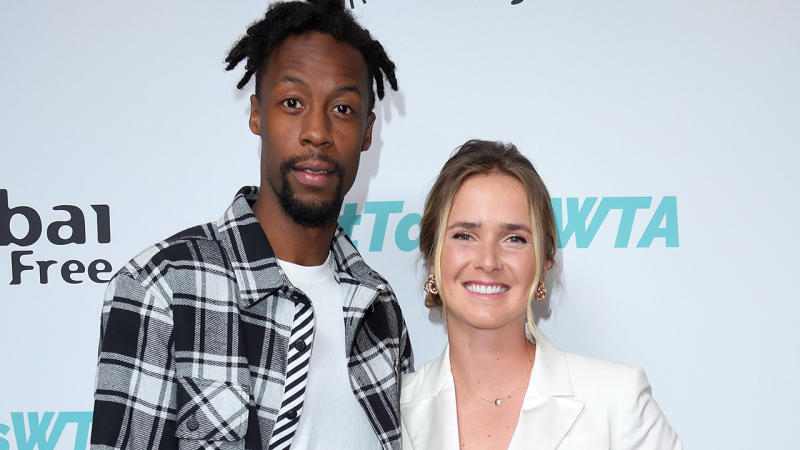 Gael Monfils and Elina Svitolina, pictured here at the WTA Summer Party in 2019.