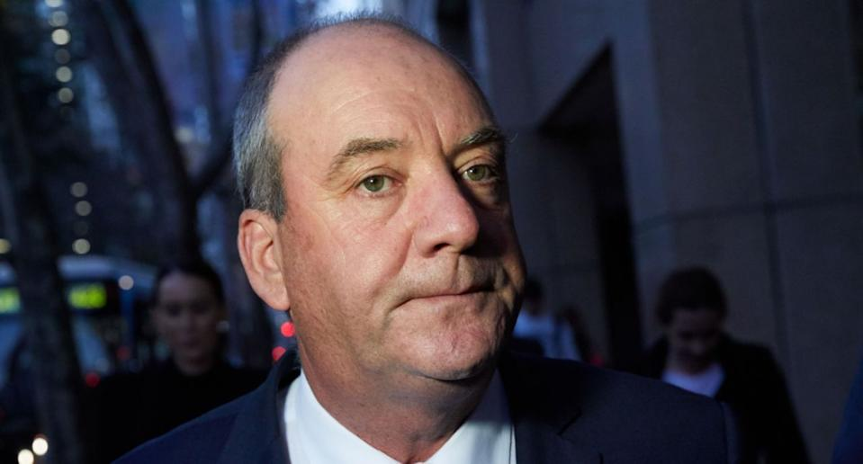 NSW MP Daryl Maguire is seen leaving the NSW Independent Commission Against Corruption (ICAC) in Sydney, Friday, July 13, 2018. (AAP Image/Erik Anderson) NO ARCHIVING