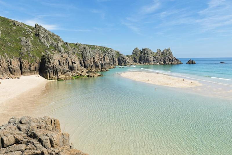 Cornwall or the Caribbean? Pedn Vounder beach in Cornwall: iStock