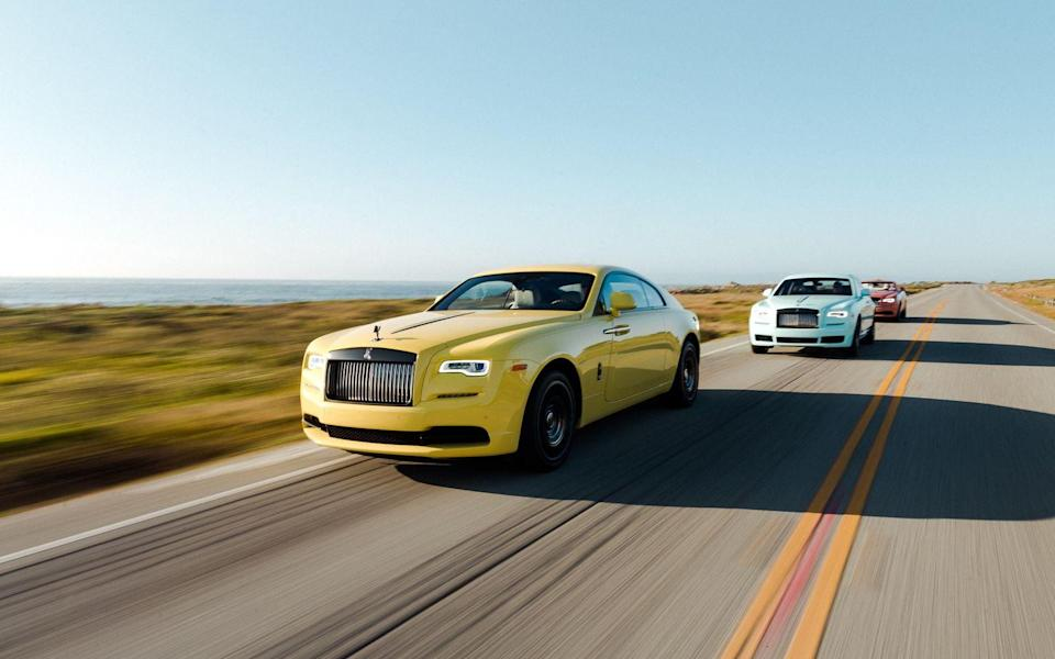 """<p>Thanks to a 624-hp version of the <a href=""""https://www.caranddriver.com/rolls-royce/ghost-2019"""" rel=""""nofollow noopener"""" target=""""_blank"""" data-ylk=""""slk:Rolls-Royce Ghost"""" class=""""link rapid-noclick-resp"""">Rolls-Royce Ghost</a>'s V-12 engine (guess what's next on the list?) and a shorter wheelbase than the Ghost, the Wraith handles better than the sedan on which it's based. That, plus all of the luxury and personalization options that come with a Rolls-Royce means you'll be comfortable as the car burns through fuel. As with the Dawn—and, in fact, all of the Rolls-Royces on this year's list—the Wraith gets 14 mpg combined, whether it's you or your chauffeur doing the driving.</p><ul><li>Base price: $343,350 </li><li>Engine: 624-hp twin-turbo 6.7-liter V-12 engine, eight-speed automatic transmission</li><li>EPA Fuel Economy combined/city/highway: 14/12/18 mpg</li></ul><p><a class=""""link rapid-noclick-resp"""" href=""""https://www.caranddriver.com/rolls-royce/wraith/specs"""" rel=""""nofollow noopener"""" target=""""_blank"""" data-ylk=""""slk:MORE WRAITH SPECS"""">MORE WRAITH SPECS</a></p>"""