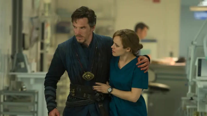 Benedict Cumberbatch and Rachel McAdams in 'Doctor Strange'. (Credit: Disney/Marvel)