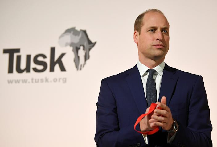 The Duke of Cambridge attends the Tusk Conservation Awards at the Empire Cinema in Leicester Square, London.