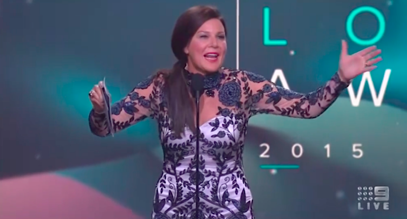 Julia Morris' forgettable moment at the Logies has become one of the most memorable.
