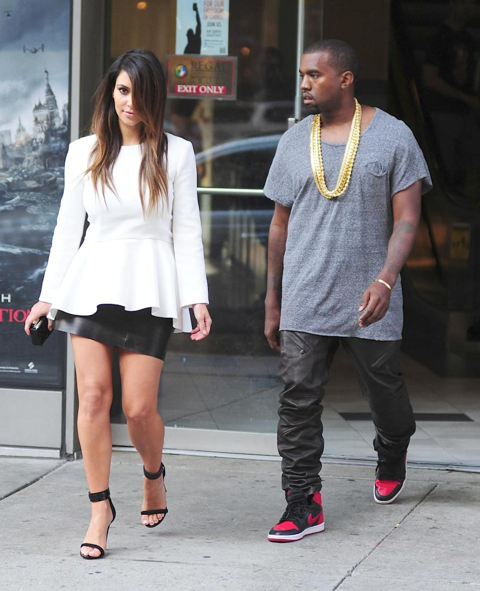 <p>Kanye West, not fashion designer Hedi Slimane, invented leather jogging pants — at least according to West. <i>(Photo: Getty Images)</i></p>