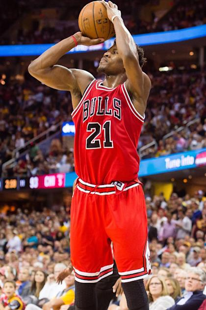 Jimmy Butler will wear red for a while. (Jason Miller/Getty Images)