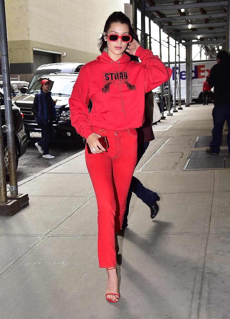 Bella Hadid is seen in Chelsea on May 4, 2017 in New York City.