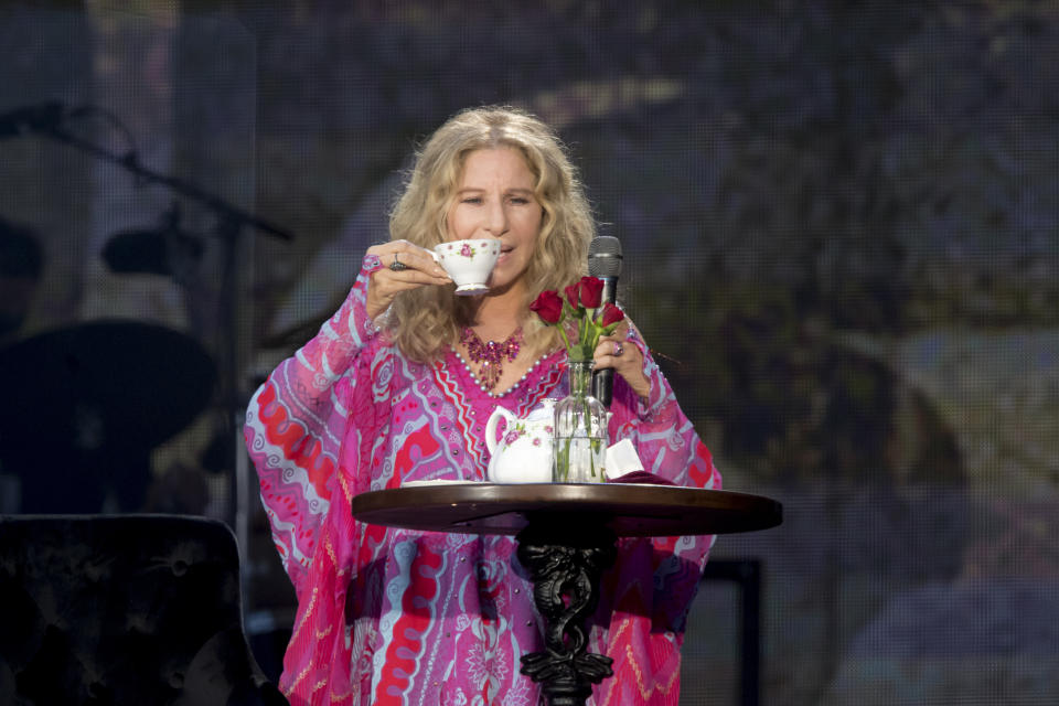 LONDON, ENGLAND - JULY 07:  Barbra Streisand performs during Barclaycard Presents British Summer Time Hyde Park at Hyde Park on July 07, 2019 in London, England. (Photo by Dave J Hogan/Getty Images)