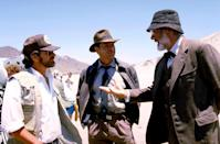 <p>Spielberg, Ford, and Sean Connery on the set of <em>Indiana Jones and The Last Crusade</em>.</p>