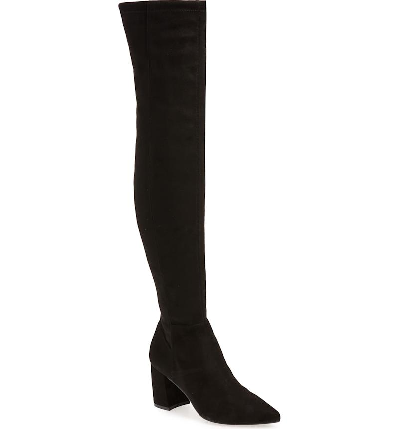 Steve Madden Nifty Pointed Toe Over the Knee Boot. Image via Nordstrom.