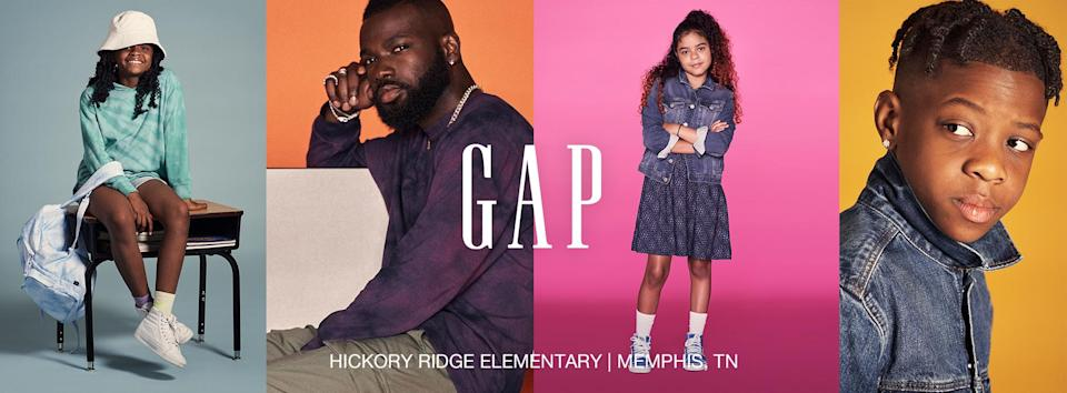 GapKids features teacher David Jamison and his students in new back-to-school campaign. - Credit: courtesy shot.