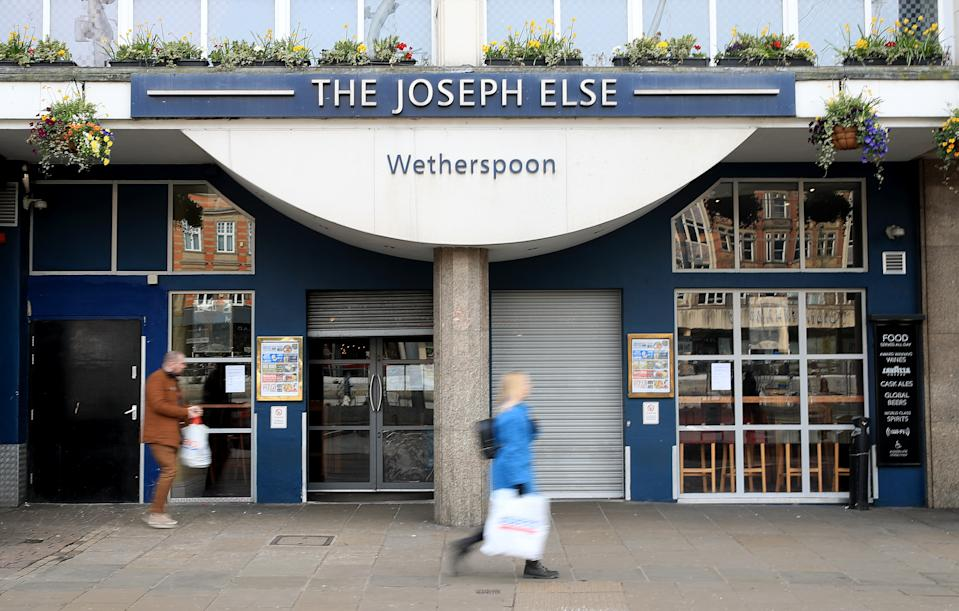 The closed The Joseph Else Wetherspoons Pub in Nottingham.