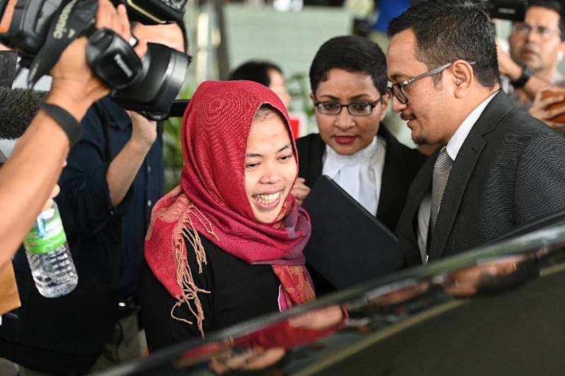 Siti Aisyah had been accused of killing Kim Jong Nam by smearing VX nerve agent on his face at Kuala Lumpur airport in February 2017