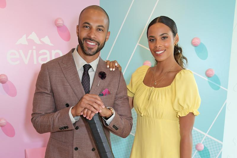 Rochelle Humes just wore the high street dress of the season [Photo: Getty]