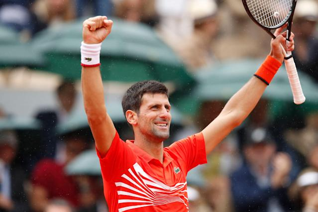 Serbia's Novak Djokovic has reached the French Open quarterfinals every year during the past decade. (AP Photo/Christophe Ena)