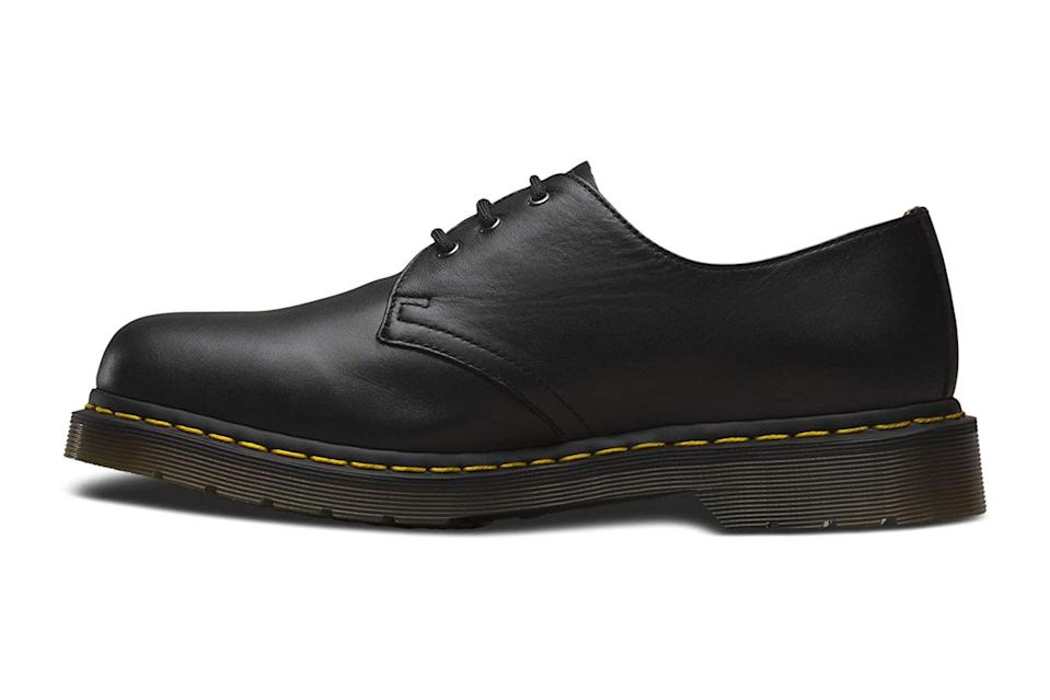 """If you're looking for lace-ups that land somewhere between a dress shoe and a casual boot, that won't fall apart after heavy wear, and that will work under any pant out there, consider your search over. Dr. Martens has you covered.<br> <br> <em>Dr. Martens 1461 3-eye leather oxford shoe</em> $120, Amazon. <a href=""""https://www.amazon.com/Dr-Martens-Nappa-Black-Women/dp/B000NXUSHY/ref=sr_1_26?dchild=1&keywords=dr%2Bmartens&qid=1608742329&sr=8-26&th=1&psc=1"""" rel=""""nofollow noopener"""" target=""""_blank"""" data-ylk=""""slk:Get it now!"""" class=""""link rapid-noclick-resp"""">Get it now!</a>"""