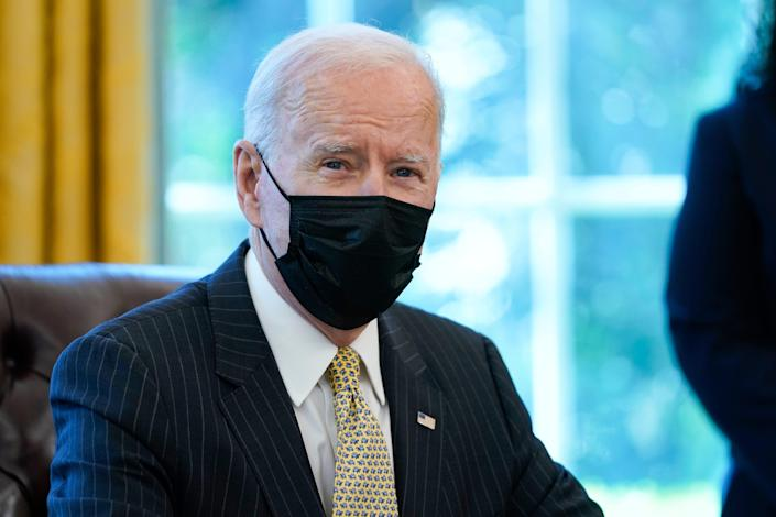 President Joe Biden called George Floyd's family on Monday and said he's praying for them.