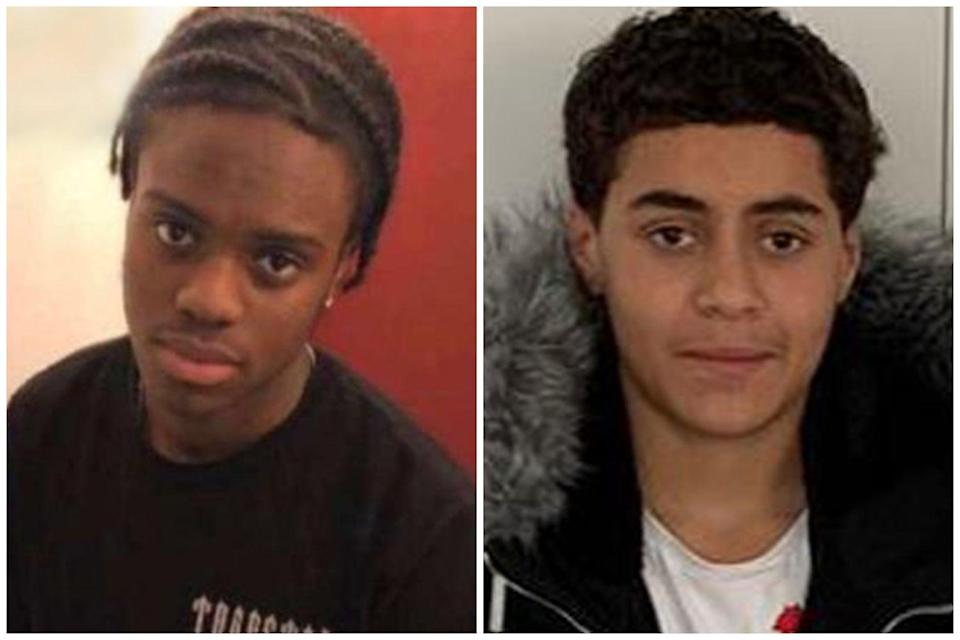<p>The 18-year-old, known as Junior Jah (l), suffered fatal knife wounds after being attacked on Monday. His death follows the fatal <a href=