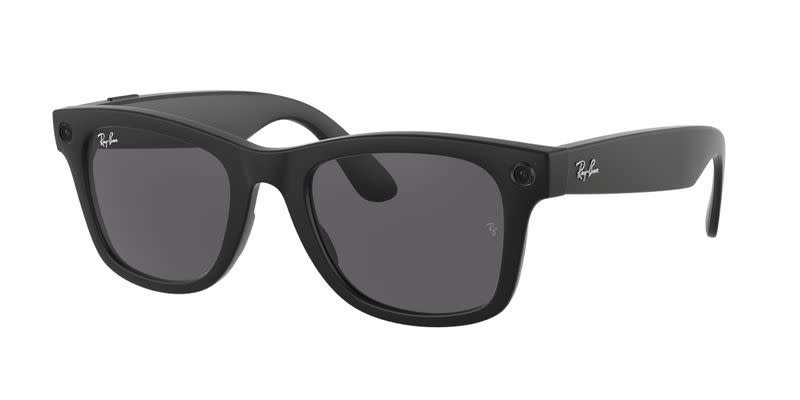 Facebook and Ray-Ban's first smart glasses are seen in a handout image