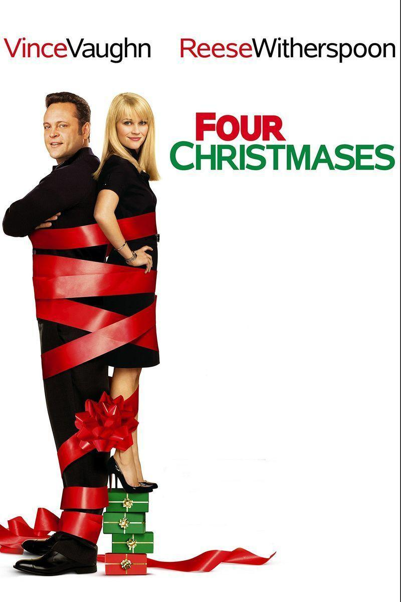 """<p>Christmas has a way of bringing everyone together — even when you least expect it. In this modern Christmas movie (it came out in 2008), Reese Witherspoon and Vince Vaughn play an unhappily married couple whose tropical holiday plans get derailed.</p><p><a class=""""link rapid-noclick-resp"""" href=""""https://www.amazon.com/Four-Christmases-Vince-Vaughn/dp/B002N1ES2K/?tag=syn-yahoo-20&ascsubtag=%5Bartid%7C10055.g.1315%5Bsrc%7Cyahoo-us"""" rel=""""nofollow noopener"""" target=""""_blank"""" data-ylk=""""slk:WATCH NOW"""">WATCH NOW</a></p>"""
