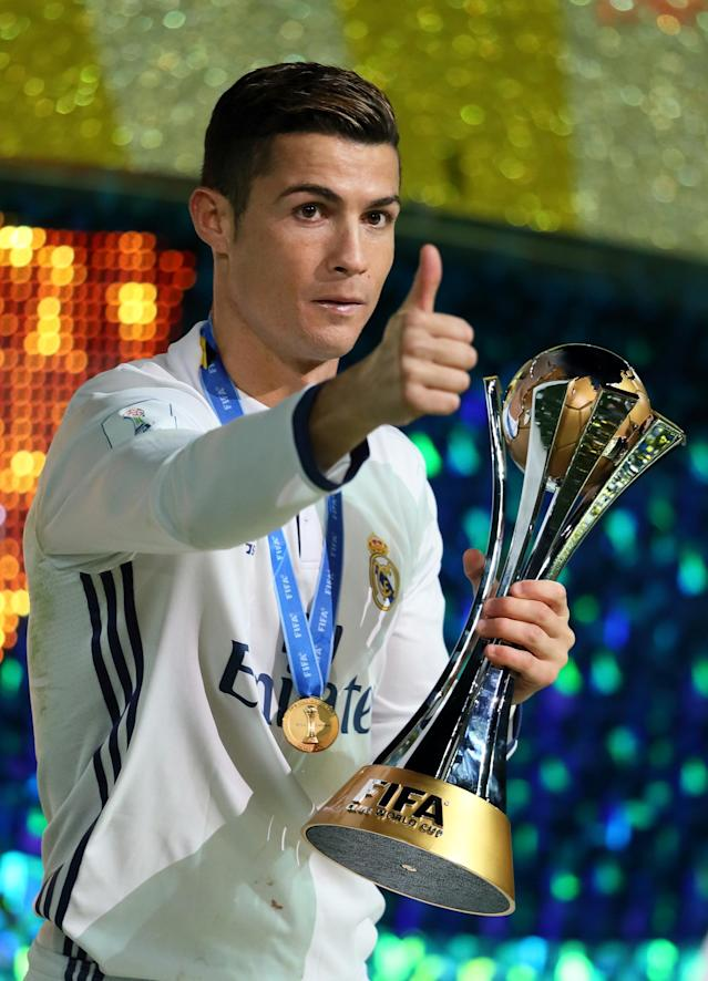 <p>Ronaldo during the FIFA Club World Cup final match between Real Madrid and Kashima Antlers at International Stadium Yokohama on December 18, 2016 in Japan. </p>