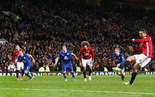 <span>Ibrahimovic stepped up to score United's equaliser</span> <span>Credit: Rex Features </span>