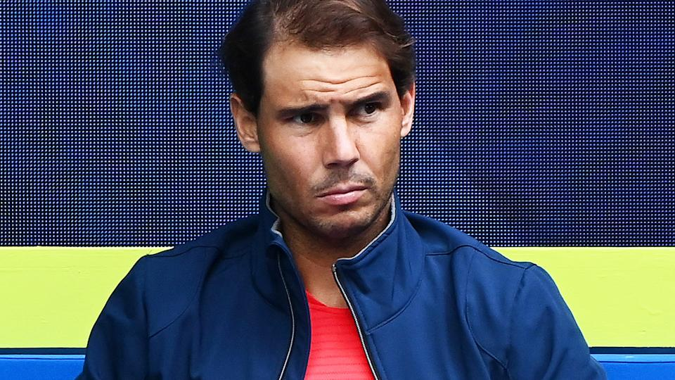 Rafael Nadal, pictured here during Spain's clash with Australia at the ATP Cup.
