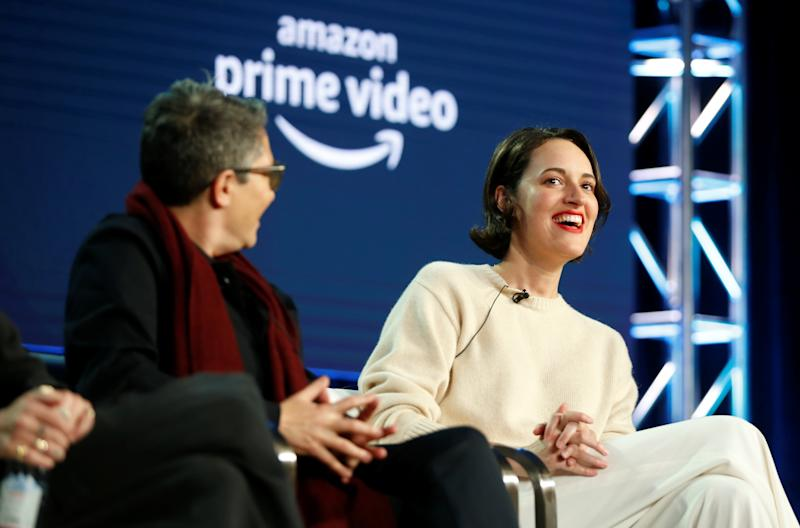 "Creator and executive producer Phoebe Waller-Bridge (R) from ""Fleabag"" and creator Jill Soloway (L) from ""Transparent"" participate in the Amazon Studios panel ""Visionary Voices,"" during the Television Critics Association (TCA) Winter Press Tour in Pasadena, California, U.S., February 13, 2019. REUTERS/Danny Moloshok"