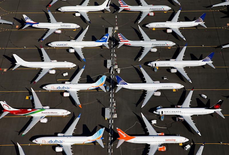 Grounded Boeing 737 MAX aircraft are at Boeing Field in Seattle, Washington. Photo: Lindsey Wasson/Reuters
