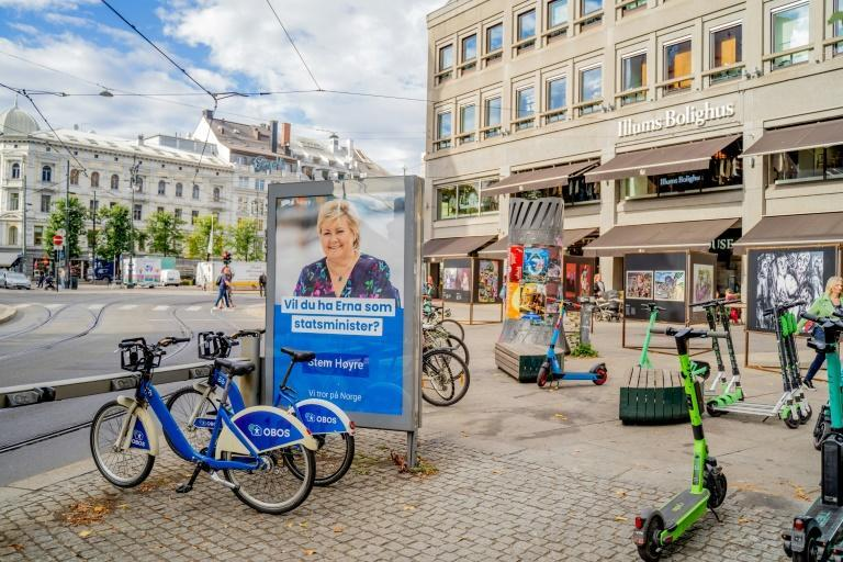 Norway's Prime Minister Erna Solberg has been in power for eight years (AFP/Ali Zare)
