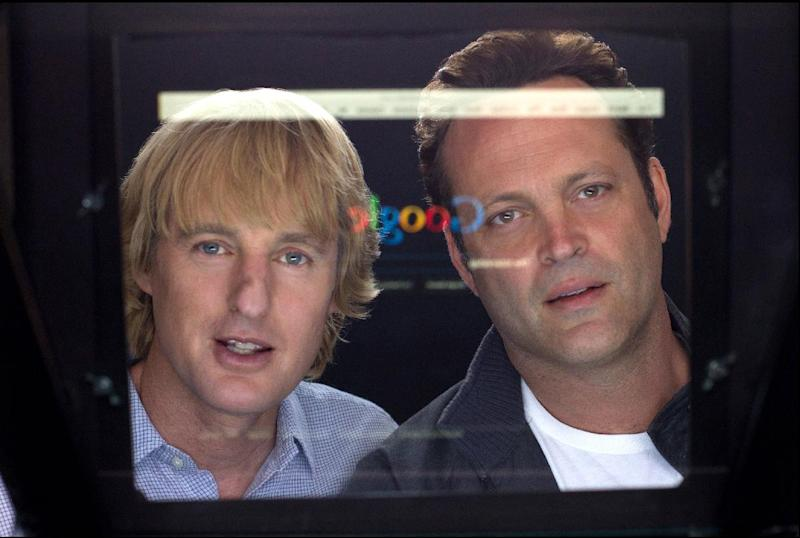 """This film publicity image released by 20th Century Fox shows Owen Wilson, left, and Vince Vaughn in a scene from """"The Internship."""" (AP Photo/20th Century Fox, Phil Bray)"""